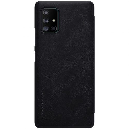 Samsung Galaxy A71 5G SM-A716F, Oldalra nyíló tok, Nillkin Qin, fekete