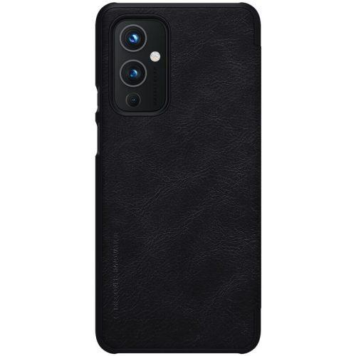 OnePlus 9, Oldalra nyíló tok, Nillkin Qin, fekete