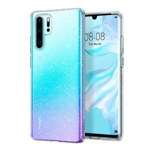Huawei P30 Pro, Szilikon tok, Spigen Liquid Crystal Glitter, átlátszó