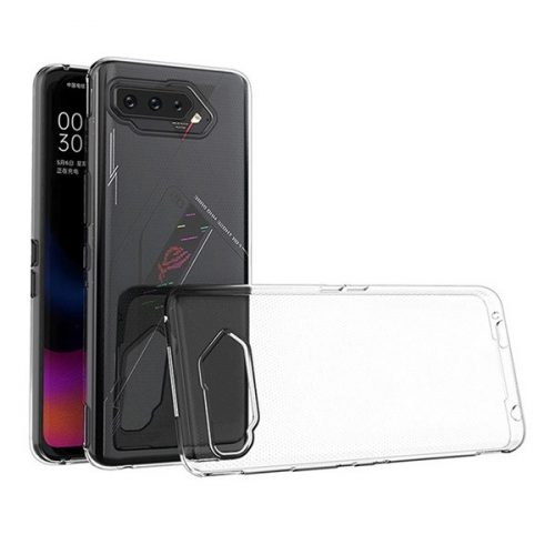 Asus ROG Phone 5 ZS673KS, Szilikon tok, ultravékony, átlátszó