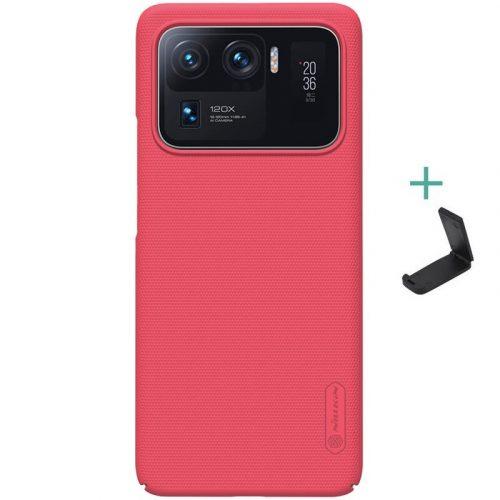 Xiaomi Mi 11 Ultra, Műanyag hátlap védőtok, stand, Nillkin Super Frosted, piros