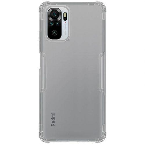 Xiaomi Redmi Note 10 / Note 10S, Szilikon tok, Nillkin Nature, ultravékony, szürke