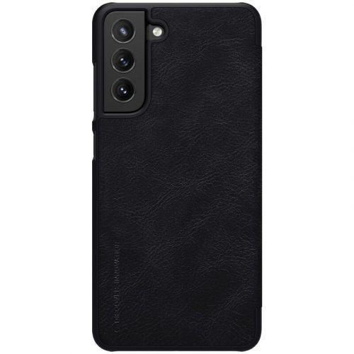 Samsung Galaxy S21 FE 5G SM-G990, Oldalra nyíló tok, Nillkin Qin, fekete