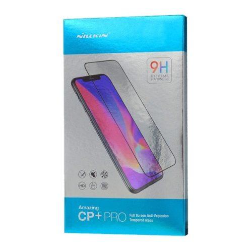 Samsung Galaxy S21 FE 5G SM-G990, Kijelzővédő fólia, ütésálló fólia (az íves részre is!), Tempered Glass (edzett üveg), Full Glue, Nillkin, CP+ PRO, fekete