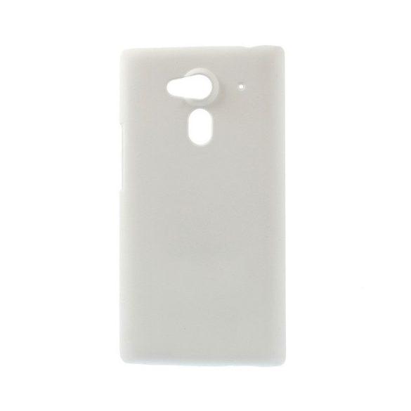 Acer Liquid Z5, Műanyag hátlap védőtok, gumírozott, fehér