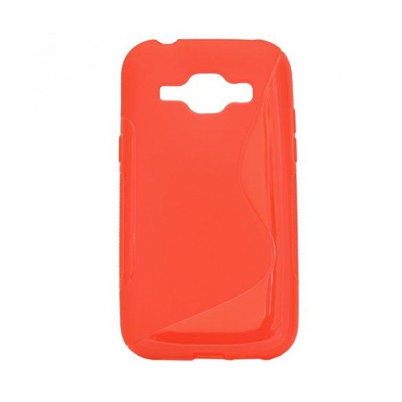 Samsung Galaxy J1 SM-J100F, TPU szilikon tok, S-Line, piros