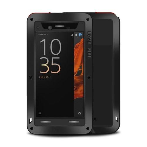 Sony Xperia XZ, Szilikon tok, Love Mei Powerful Defender, ütésálló, fekete