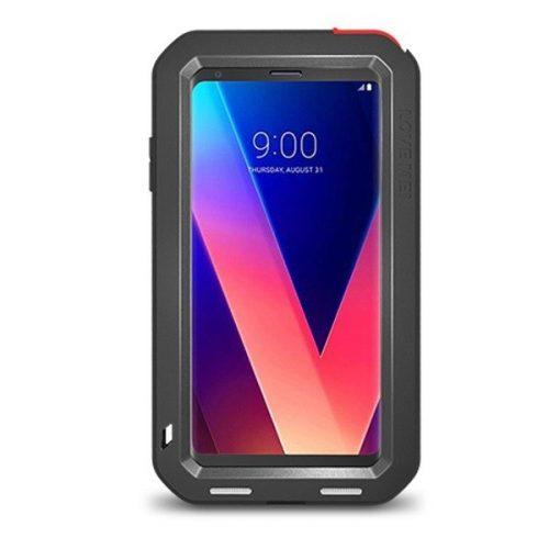 LG V30, Szilikon tok, Love Mei Defender, ütésálló, fekete