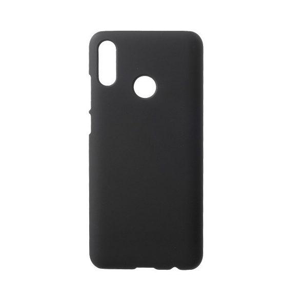 Huawei P Smart (2019) / Honor 10 Lite, Műanyag hátlap védőtok, gumírozott, fekete