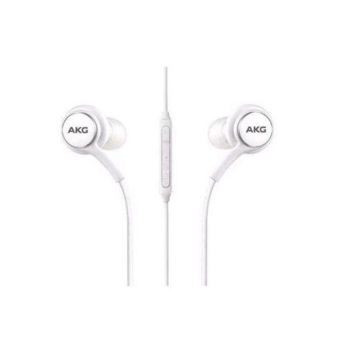 Vezetékes sztereó fülhallgató, 3.5 mm jack, felvevő gomb, Samsung - AKG, fehér, gyári