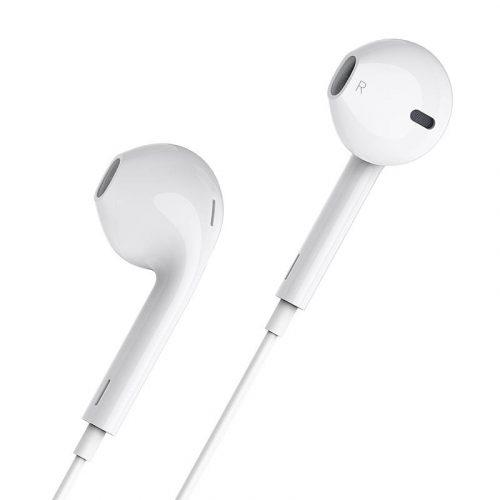 Vezetékes sztereó fülhallgató, Lightning, mikrofon, hangerő szabályzó, Hoco L7 Plus, fehér