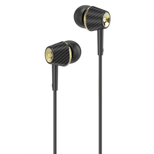 Vezetékes sztereó fülhallgató, 3.5 mm, mikrofon, funkció gomb, Hoco M70 Graceful, fekete
