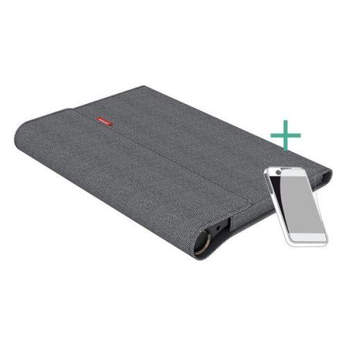 Lenovo Yoga Smart Tab (10.1) YT-X705F / X705L, mappa tok, táska, képernyővédő fóliával, szürke, gyári