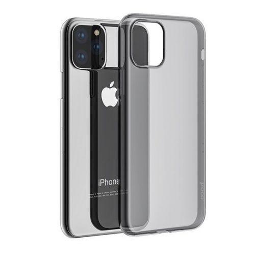 Apple iPhone 11 Pro Max, Szilikon tok, ultravékony, Hoco Light, átlátszó/füst