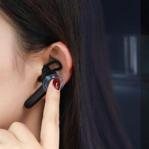 Bluetooth fülhallgató, v5.0, töltőállomás, Multipoint, Baseus Encok Vehicle-mounted A05, NGA05, fekete