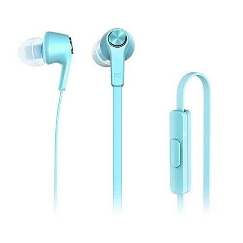 Vezetékes sztereó fülhallgató, 3.5 mm, mikrofon, funkció gomb, Xiaomi Mi Ear Basic, gyári, kék