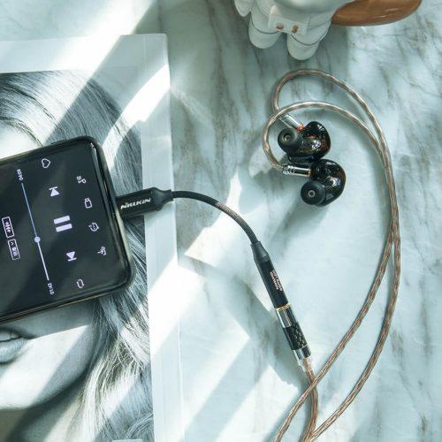Adapter, USB Type-C - 3.5 mm jack átalakító, Nillkin Hifi Dac Decoding Amplifier, fekete