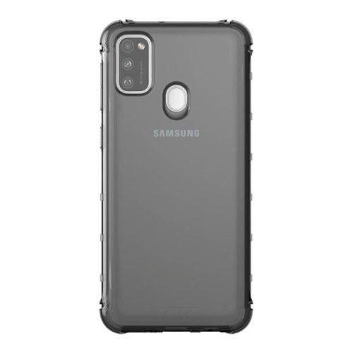 Samsung Galaxy M21 SM-M215F, Szilikon tok, közepesen ütésálló, légpárnás sarok, füst, gyári