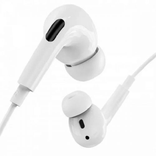 Vezetékes sztereó fülhallgató, 3.5 mm, mikrofon, hangerő szabályzó, Hoco M1 Pro, fehér