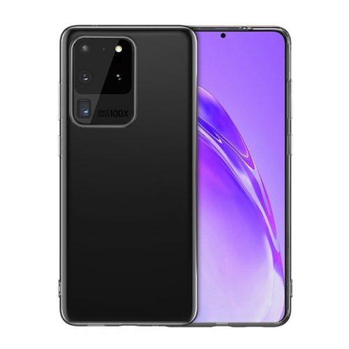 Samsung Galaxy S20 Ultra 5G SM-G988, Szilikon tok, ultravékony, Hoco Light, átlátszó