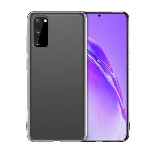 Samsung Galaxy S20 / S20 5G SM-G980 / G981, Szilikon tok, ultravékony, Hoco Light, átlátszó