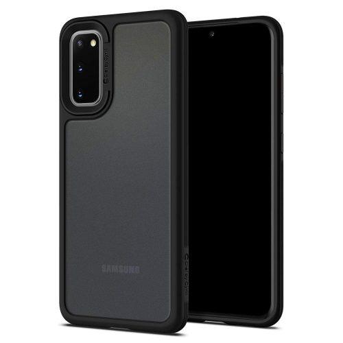 Samsung Galaxy S20 / S20 5G SM-G980 / G981, Szilikon védőkeret + műanyag hátlap, közepesen ütésálló, Spigen Ciel Cyril Color Brick, áttetsző/fekete