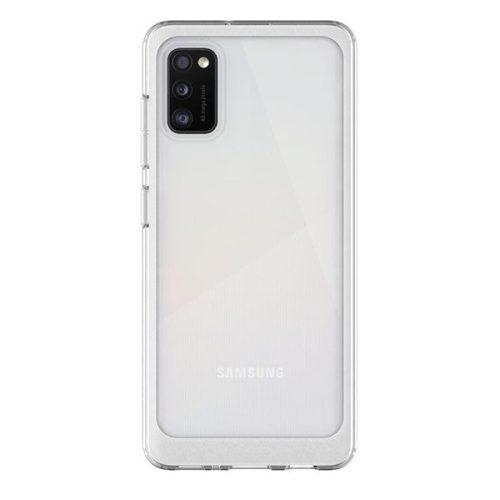 Samsung Galaxy A41 SM-A415F, Szilikon tok, közepesen ütésálló, légpárnás sarok, átlátszó, gyári