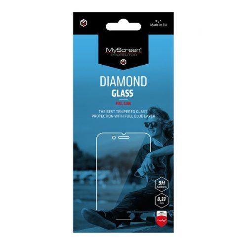 Caterpillar S60, Kijelzővédő, ütésálló fólia (az íves részre NEM hajlik rá!), MyScreen Protector, Diamond Glass (Edzett gyémántüveg), Full Glue, Clear