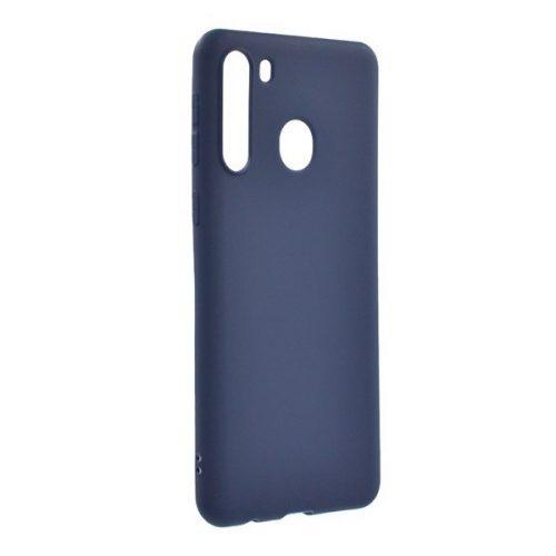 Samsung Galaxy A21 SM-A210F, Szilikon tok, sötétkék