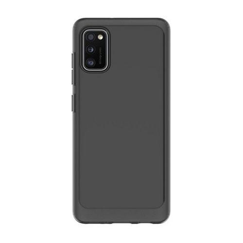 Samsung Galaxy A41 SM-A415F, Szilikon tok, közepesen ütésálló, légpárnás sarok, fekete, gyári