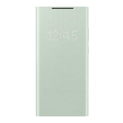 Samsung Galaxy Note 20 / 20 5G SM-N980 / N981, Oldalra nyíló tok, LED kijelzővel, menta, gyári