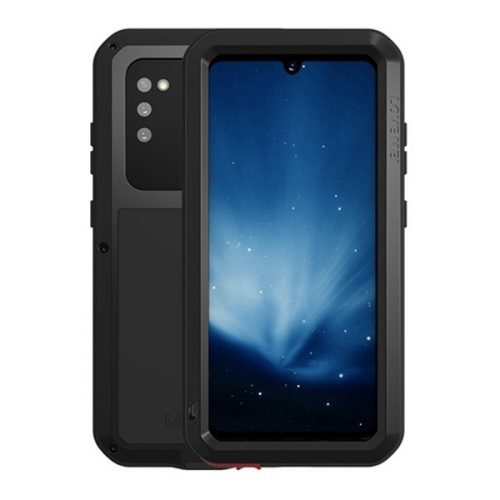 Samsung Galaxy A41 SM-A415F, Szilikon tok, Love Mei Powerful Defender, ütésálló, fekete