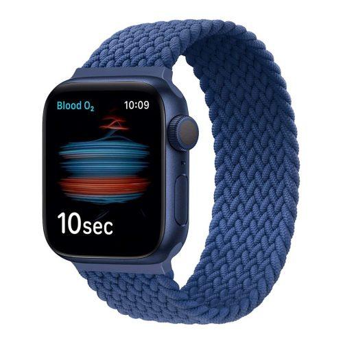 Xprotector fonott körpánt szíj Apple Watch 42/44mm, L (172 mm), sötétkék