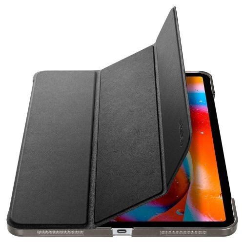 Apple iPad Pro 12.9 (2021), mappa tok, Smart Case, Spigen Smart Fold, fekete