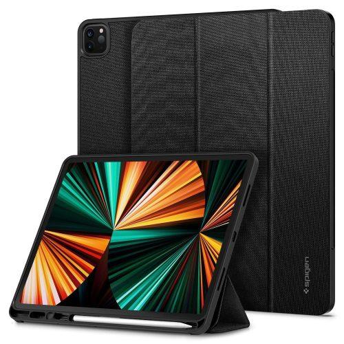Apple iPad Pro 12.9 (2021), mappa tok, Smart Case, Spigen Urban Fit, fekete
