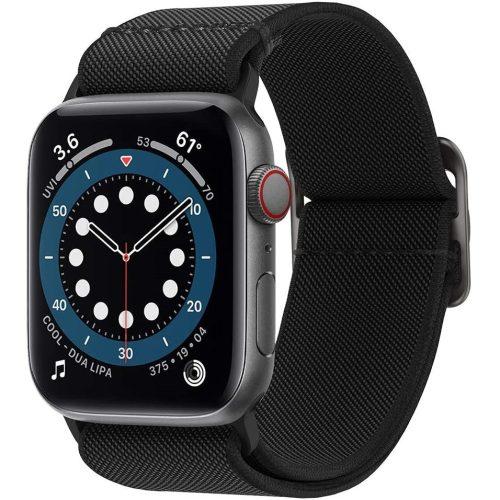 Apple Watch 1-6, SE (38 / 40 mm), szövet pótszíj, Spigen Lite Fit, fekete