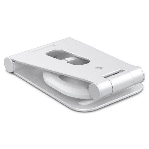 Magsafe asztali töltőpad tartó állvány, Magsafe töltőkkel kompatibilis, Spigen Mag Fit, fehér