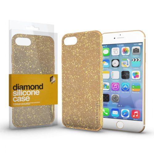 Xprotector Diamond szilikon hátlap tok, Samsung Galaxy A02s, arany