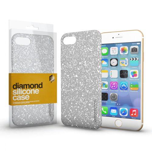 Xprotector Diamond szilikon hátlap tok, Samsung Galaxy A02s, ezüst