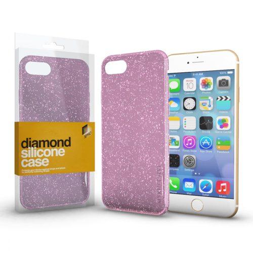 Xprotector Diamond szilikon hátlap tok, Samsung Galaxy A02s, rózsaszín