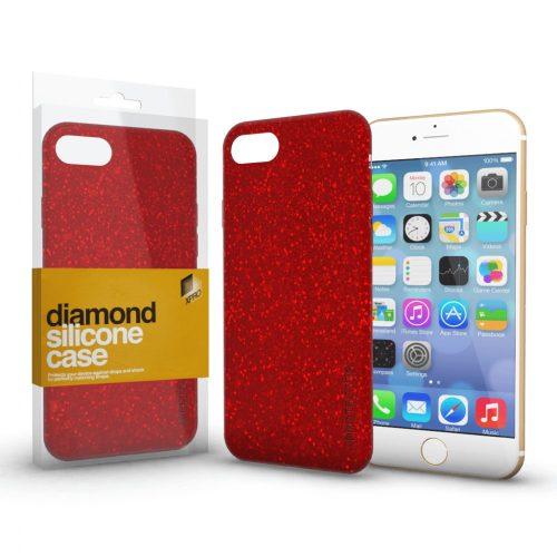 Xprotector Diamond szilikon hátlap tok, Samsung Galaxy A02s, piros