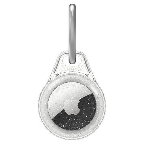 Apple AirTag szilikon tok, csillámos, Spigen Cyrill Shine Glitter, átlátszó