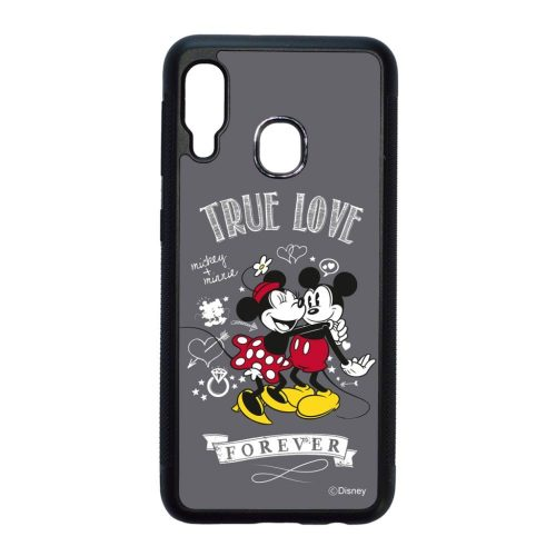 Disney True Love - Mickey & Minnie - Samsung Galaxy A20e fekete szilikon tok