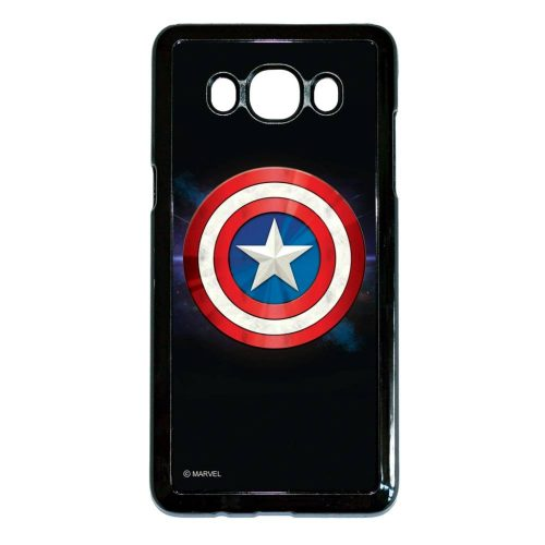 Marvel Amerika kapitány pajzsa - Samsung Galaxy J5 (2016) fekete szilikon tok